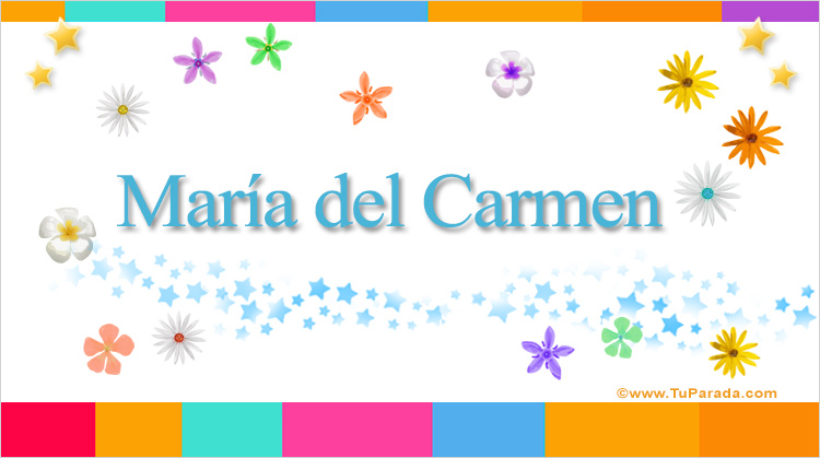 María del Carmen, imagen de María del Carmen