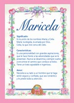 Origen y significado de Maricela