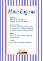 Nombre María Eugenia