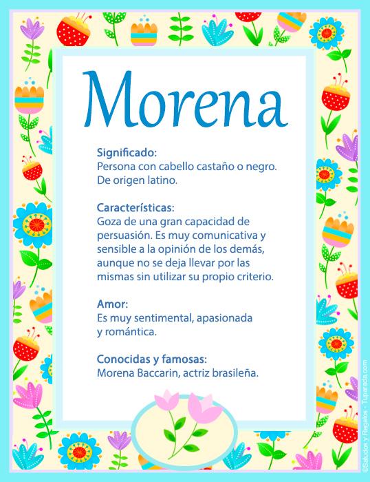 Morena, imagen de Morena