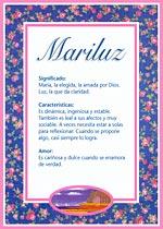 Origen y significado de Mariluz