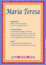 Nombre María Teresa