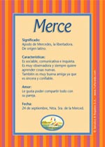 Origen y significado de Merce