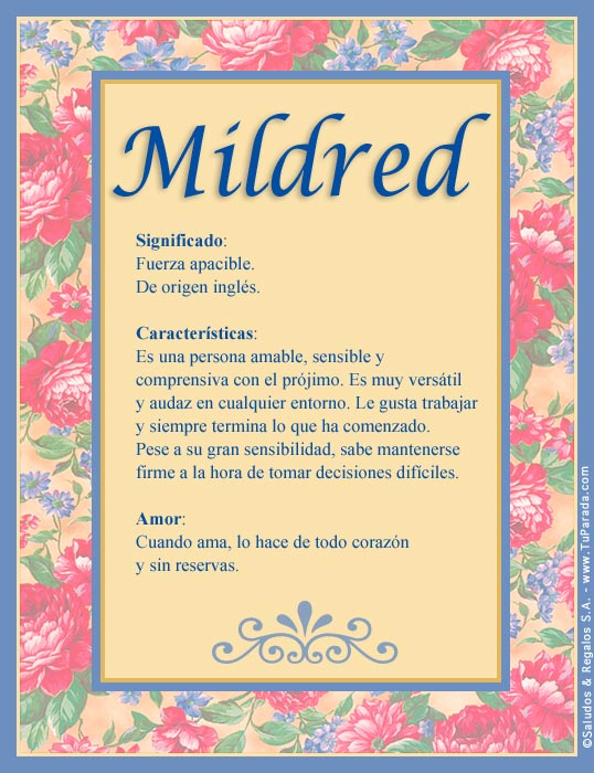 Mildred, imagen de Mildred