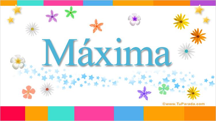 Máxima, imagen de Máxima