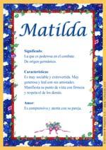 Origen y significado de Matilda