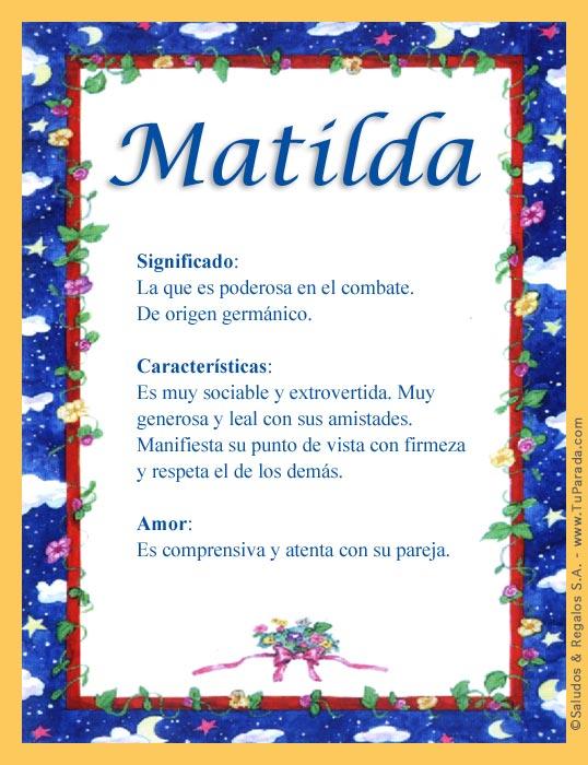Matilda, imagen de Matilda