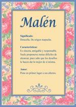 Nombre Malén