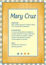 Nombre Mary Cruz