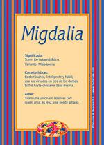 Nombre Migdalia