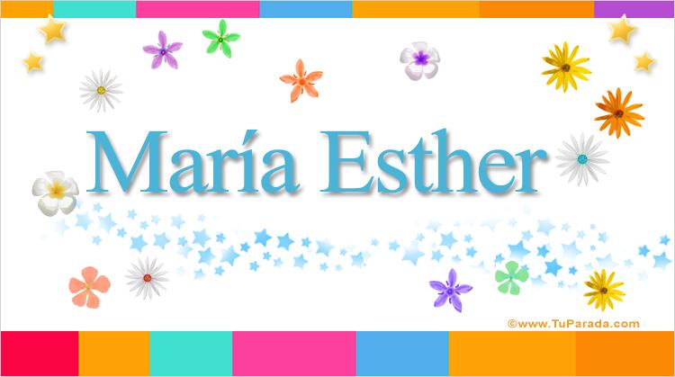 María Esther, imagen de María Esther
