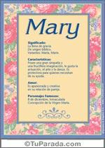 Origen y significado de Mary