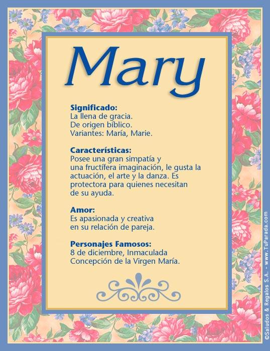 Mary, imagen de Mary