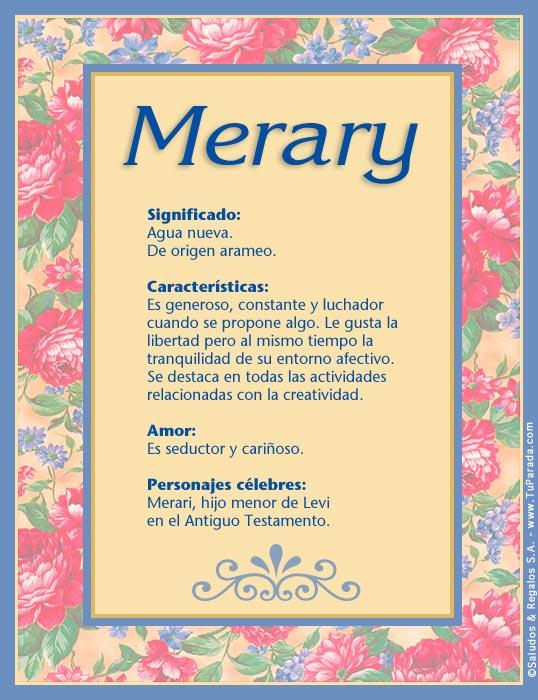 Merary, imagen de Merary