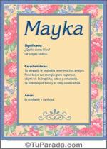 Nombre Mayka