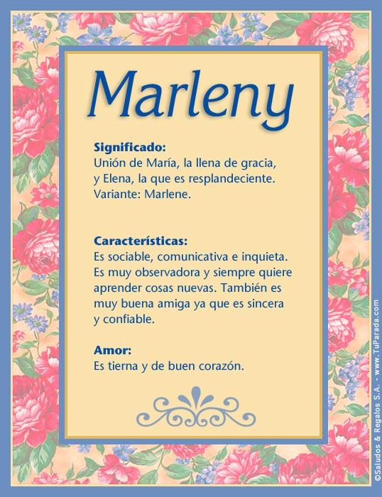 Marleny, imagen de Marleny
