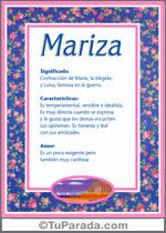 Nombre Mariza