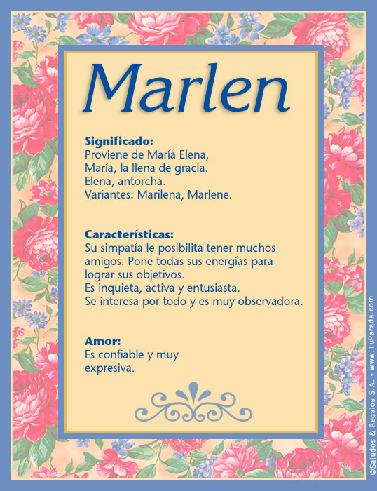 Marlen, imagen de Marlen