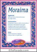 Nombre Moraima