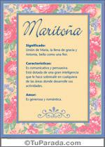 Nombre Maritoña