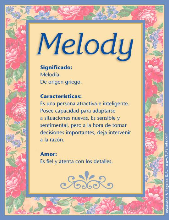 Melody, imagen de Melody