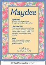Nombre Maydee