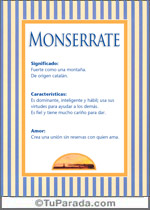 Nombre Monserrate