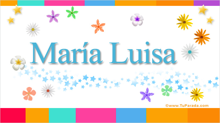 María Luisa, imagen de María Luisa