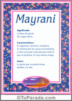 Nombre Mayrani