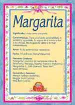 Origen y significado de Margarita