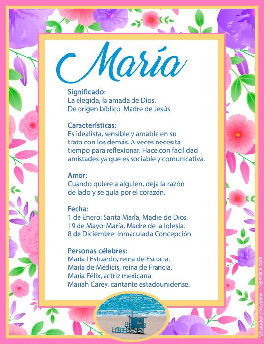 María, imagen de María