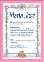 Origen y significado de María José