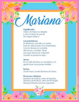 Origen y significado de Mariana