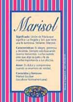 Nombre Marisol