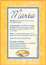 Nombre Marta