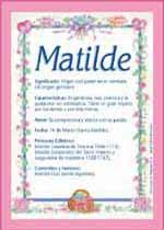 Nombre Matilde