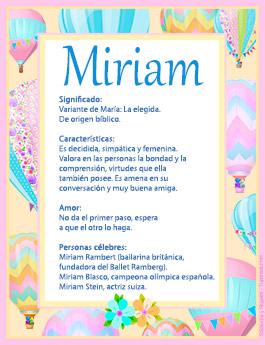 Origen y significado de Miriam
