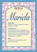 Nombre Mariela