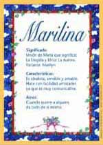 Nombre Marilina