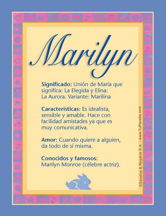 Marilyn, imagen de Marilyn