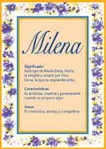 Nombre Milena