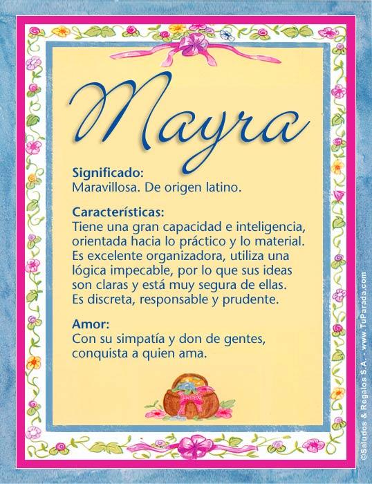 Mayra, imagen de Mayra