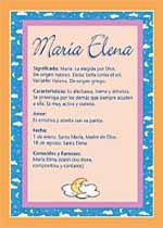Nombre María Elena