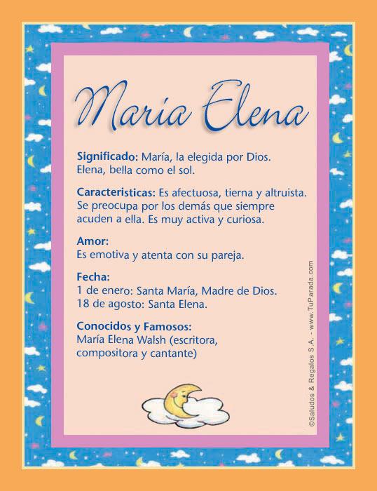 María Elena, imagen de María Elena