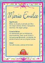 Nombre María Emilce