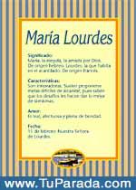 Origen y significado de María Lourdes
