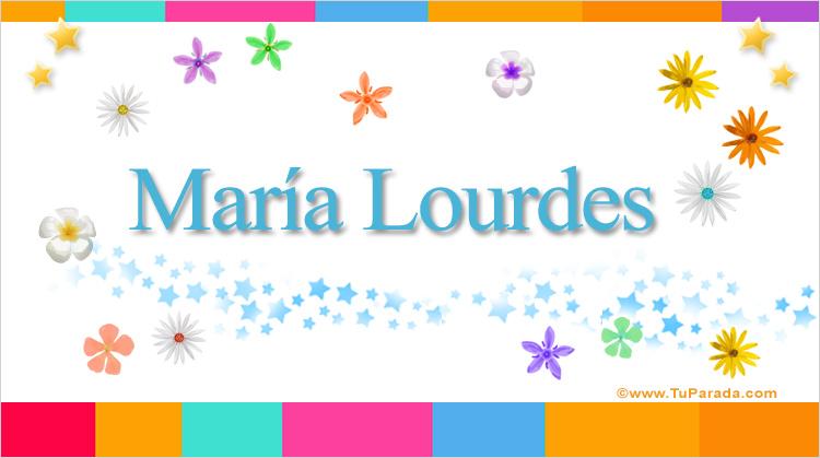 María Lourdes, imagen de María Lourdes