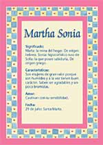 Nombre Martha Sonia