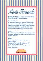 Nombre María Fernanda