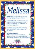Origen y significado de Melissa